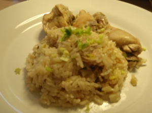 Home cooked chicken rice!